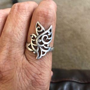 James Avery Capistrano Open Dove Ring Size 9